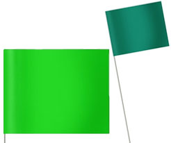 Green Marking Flags