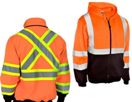 Orange Safety Sweatshirts