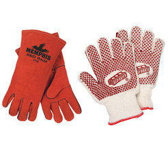 Red Work Gloves