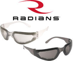 Radians Mirage Foam Lined Safety Glasses