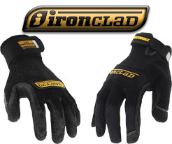Black Ironclad Work Gloves