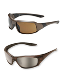 View Brown Frame Safety Glasses