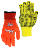 View High Visibility String Knit Gloves