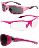 View Pink Frame Safety Glasses