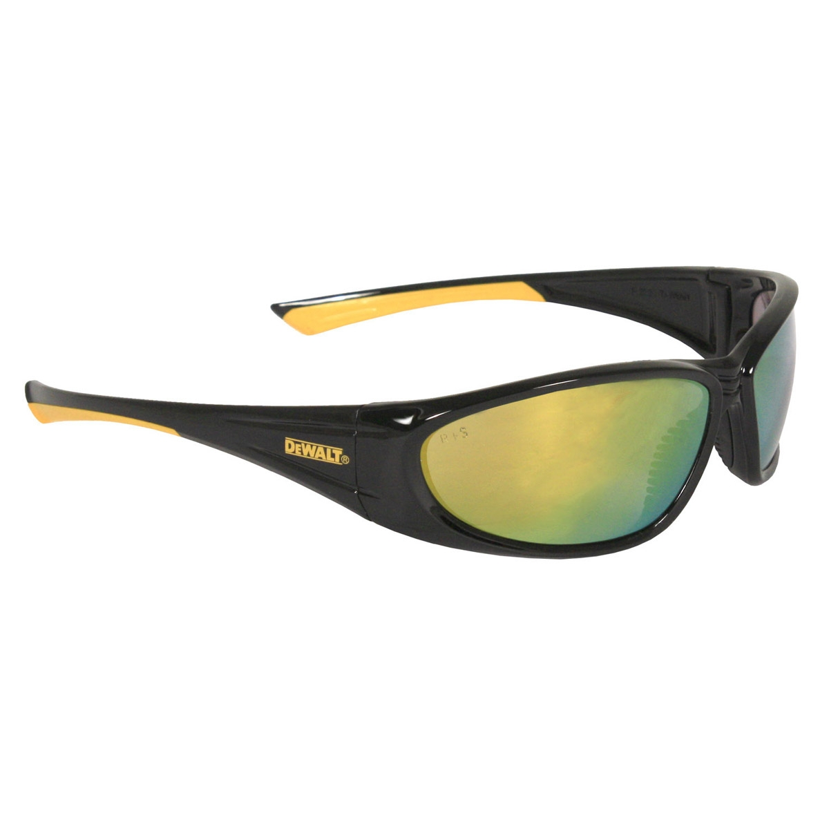 DeWalt DPG98-Y Gable Safety Glasses - Black/Yellow Frame ...