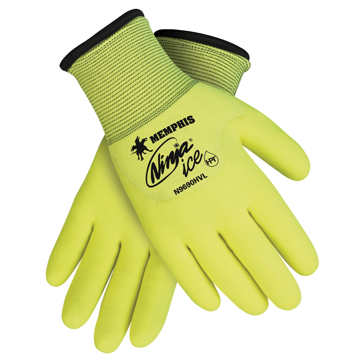 N9690HV : Ninja Ice Hi-Viz Yellow Nylon Liner with HPT Coating