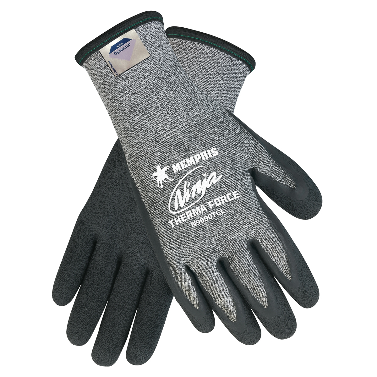 N9690TC : Memphis Ninja Therma Force Gloves - 7 Gauge Arcylic Terry Liner - 13 Gauge Dyneema Liner Outside