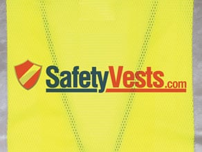 Custom Screen Printing Safety Vests Example