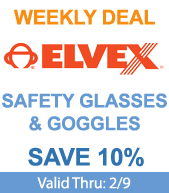 Save Elvex Safety Glasses and Goggles!