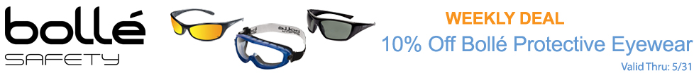 Save on Bolle Safety Glasses!